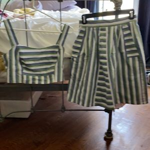 High Waisted Skirt and matching Crop Top